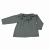 Blouse Charme Stormy Weather Rayures de Poudre Organic - Petit Bloomer